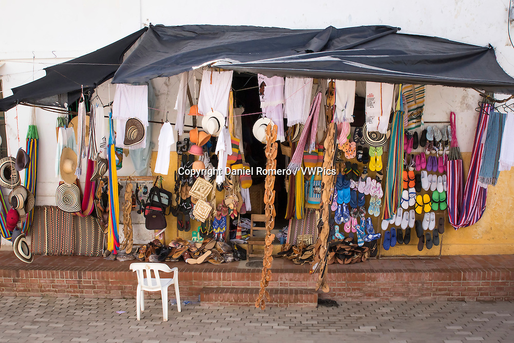 Handicraft shop street municipality of Santa Cruz de Mompox, department of Bolivar, Colombia.