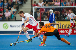 Harry Martin. England v Malaysia - 3rd/4th Playoff - Hockey World League Semi Final, Lee Valley Hockey and Tennis Centre, London, United Kingdom on 25 June 2017. Photo: Simon Parker
