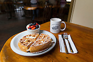 The Belgian Waffle at Grandma's Coffee House in Keokea, Upcountry, Maui, Hawaii