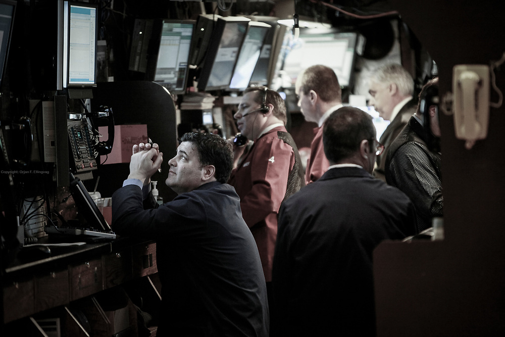 New York Stock Exchange Floor Specialists on the trading floor at NYSE.