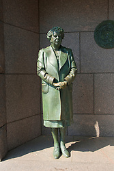 Washington DC; USA: The Franklin Delano Roosevelt Memorial. Sculpture of Eleanor Roosevelt, wife of the President.  .Photo copyright Lee Foster Photo # 14-washdc83205