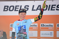 Trixi Worrack in the Sprinters jersey after Boels Rental Ladies Tour Prologue a 4.3 km individual time trial in Wageningen, Netherlands on August 29, 2017. (Photo by Sean Robinson/Velofocus)