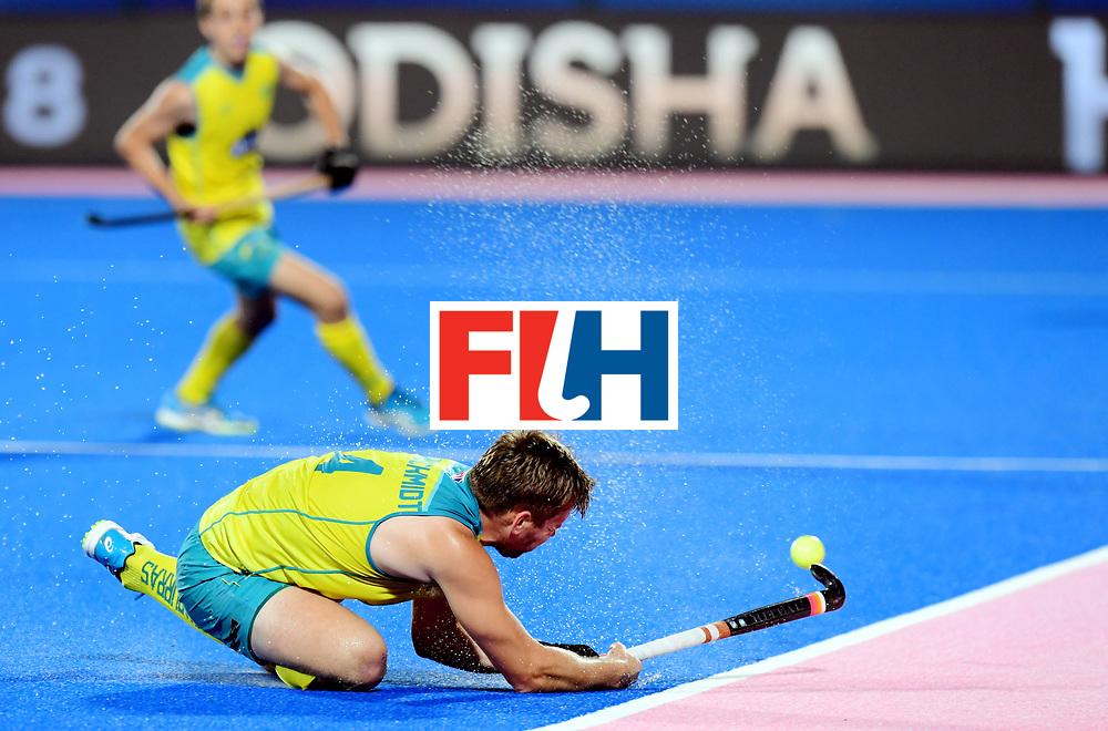 Odisha Men's Hockey World League Final Bhubaneswar 2017<br /> Match id:20<br /> Australia v Germany<br /> Foto: Jake Harvie (Aus) <br /> COPYRIGHT WORLDSPORTPICS FRANK UIJLENBROEK