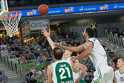 Basketball match between KK Union Olimpija and KK Krka in 4nd Final match of Telemach Slovenian Champion League 2011/12, on May 24, 2012 in Arena Stozice, Ljubljana, Slovenia.  (Photo by Grega Valancic / Sportida.com)