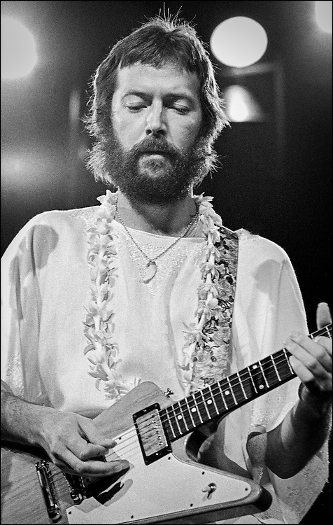 Eric Clapton performs at the Honolulu International Center Arena in 1975.  The Honolulu International Center (HIC) has now been re-named the Neil S. Blaisdell Arena..©PF Bentley/PFPIX.com