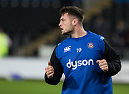 Bath Rugby's Josh Lewis during the pre match warm up<br /> <br /> Photographer Simon King/Replay Images<br /> <br /> Anglo-Welsh Cup Round 4 - Ospreys v Bath Rugby - Friday 2nd February 2018 - Liberty Stadium - Swansea<br /> <br /> World Copyright &copy; Replay Images . All rights reserved. info@replayimages.co.uk - http://replayimages.co.uk