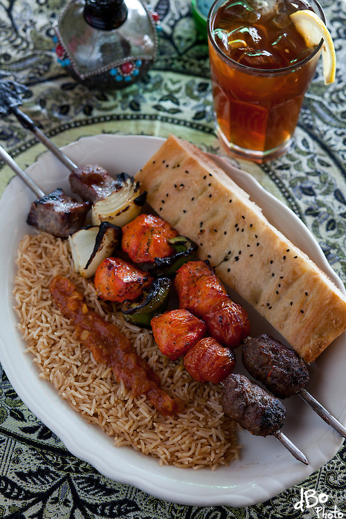 The Ariana Kabob at Ariana Restaurant in Voorhees. (Photo/Douglas Bovitt)