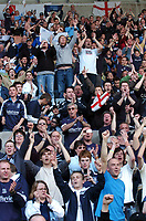Photo: Adam Davies.<br />Swansea City v Southend United. Coca Cola League 1. <br />29/04/2006.<br />Southend supporters celebrate.