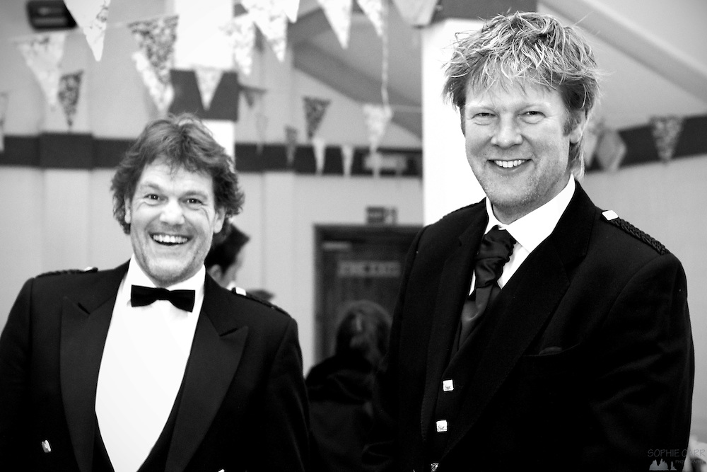 Arnout & Remco at Jan & Carrie's wedding in Vatersay