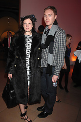 KATIE GRAND and STUART VEVERS Design Director at Mulberry at the opening party for 'Face of Fashion' an exhibition of photographs by five of the World's leading fashion photographers held at the National Portrait Gallery, St.Martin's Lane, London on 12th February 2007.<br />