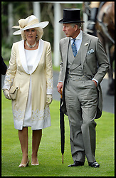 The Duchess of Cornwall and Prince Charles at the Opening day of Royal Ascot 2013 Ascot, United Kingdom<br /> Tuesday, 18th June 2013,<br /> Picture by Andrew Parsons / i-Images