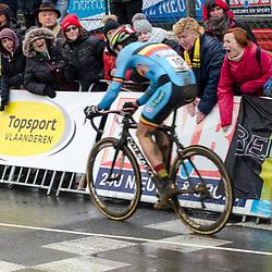 """31-01-2016: Wielrennen: WK cyclecross elite: Heusden ZolderHEUSDEN-ZOLDER (BEL) cyclocrossOp het circuit van Terlamen-Zolder streden de elite veldrijders om de mondiale titels in het veld. <br /> WK Zolder Elite - """"The finish Line"""""""