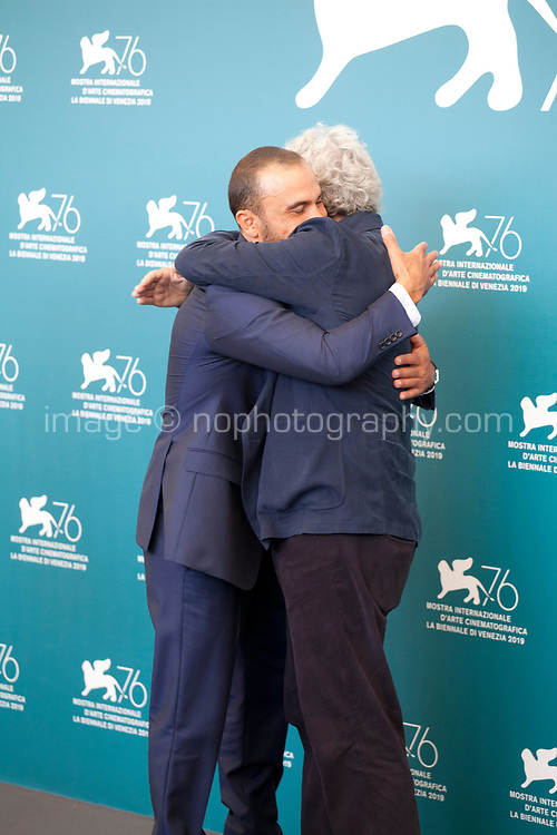 Venice, Italy, 30th August 2019, Francesco Di Leva and director Mario Martone at the photocall for the film The Mayor of Rione Sanita (Il Sindaco Del Rione Sanita) at the 76th Venice Film Festival, Sala Grande. Credit: Doreen Kennedy/Alamy Live News