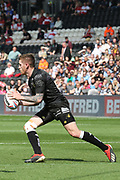 Hull FC scrum half Marc Sneyd (7)  during the Betfred Super League match between Hull FC and Hull Kingston Rovers at Kingston Communications Stadium, Hull, United Kingdom on 19 April 2019.