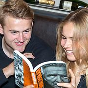 NLD/Volendam/20190522 - Boekpresentatie Keje Molenaar – Meesterlijk, voetballer en partner Matthijs de Ligt en partner Annekee Molenaar
