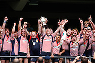 Lancashire collect the Bill Beaumont trophy after beating Cornwall 36-26  at Twickenham Stadium, Twickenham<br /> Picture by Andrew Tobin/Focus Images Ltd +44 7710 761829<br /> 01/06/2014