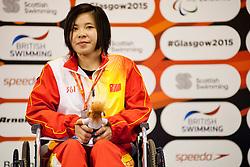 MENG Guofen CHN at 2015 IPC Swimming World Championships -  Women's 50m Backstroke S3