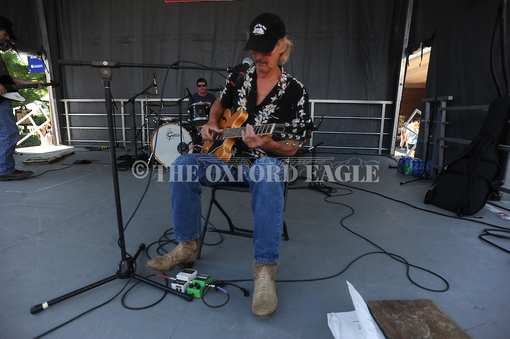 Kenny Brown plays at the Double Decker Arts Festival in Oxford, Miss. on Saturday, April 28, 2012.