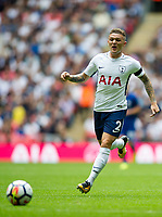 Kieran Trippier of Tottenham Hotspur during the Premier League match between Tottenham Hotspur and Chelsea at Wembley Stadium, London, England on 20 August 2017.<br /> Norway only