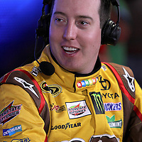 Driver Kyle Busch speaks with the media during the NASCAR Media Day event at Daytona International Speedway on Thursday, February 14, 2013 in Daytona Beach, Florida.  (AP Photo/Alex Menendez)