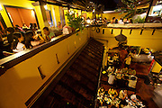 Qan An Ngon traditional open air restaurant. The courtyard.