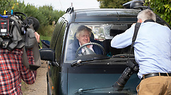 © Licensed to London News Pictures. 10/09/2018. Thame, UK. Boris Johnson is surrounded by reporters and photographers as he arrives at his Oxfordshire house . Last week it was announced that Boris Johnson and his wife Marina Wheeler are getting divorced. Photo credit: Peter Macdiarmid/LNP