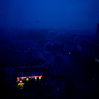 A predawn view over Jinan, a city of more than 3 million inhabitants and the capitol Shandong Province, China.
