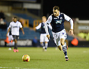 Millwall forward Lee Gregory is through on goal during the Sky Bet League 1 match between Millwall and Bury at The Den, London, England on 28 November 2015. Photo by David Charbit.