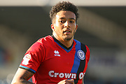 Rochdale midfielder Nathaniel Mendez-Laing during the EFL Sky Bet League 1 match between Chesterfield and Rochdale at the Proact stadium, Chesterfield, England on 25 March 2017. Photo by Aaron  Lupton.