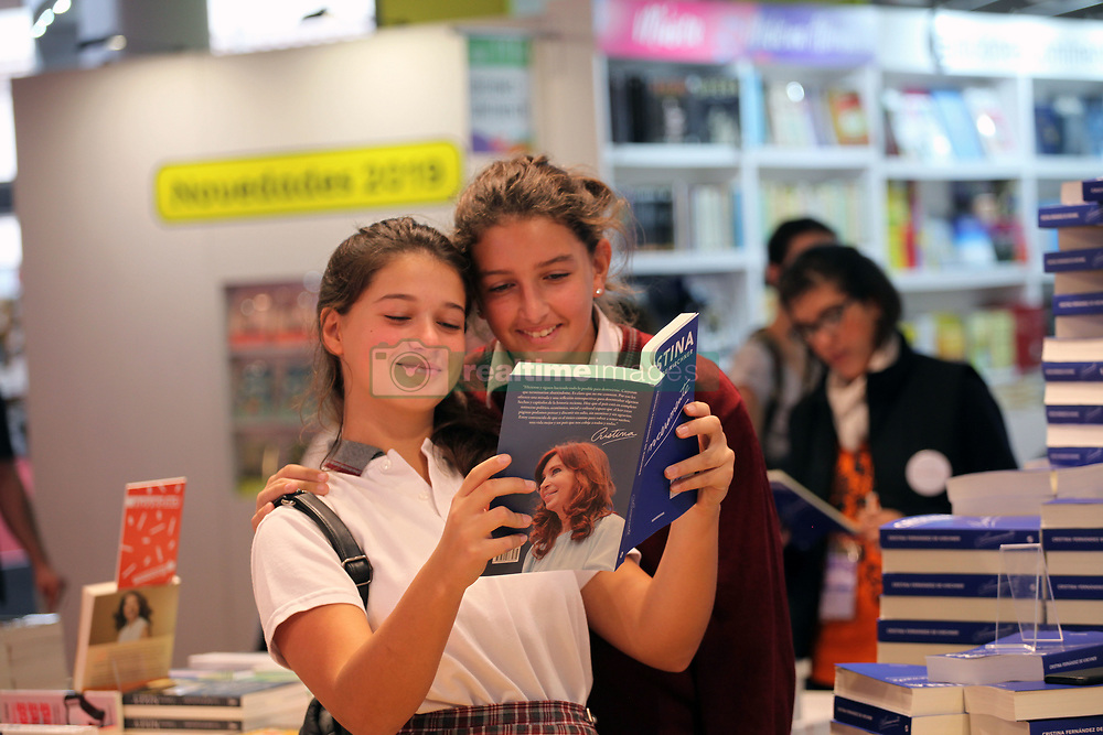 May 2, 2019 - Buenos Aires, Buenos Aires, Argentina - 45th International Book Fair of Buenos Aires. One of the most successful editorial releases of the Fair is Cristina Fernandez de Kirchner's autobiographical book, Sinceramente (Sincerely), that sold out the first edition in a few hours..Book written by former president seen by many political analysts as a prelude to her entry into October's presidential election campaign. Is published by Penguin Random House - Editorial Sudamericana. (Credit Image: © Claudio Santisteban/ZUMA Wire)