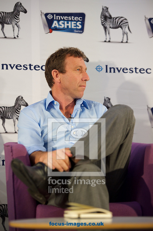Host Michael Atherton during the Investec Ashes Press Conference at Investec Bank, City of London<br /> Picture by Alan Stanford/Focus Images Ltd +44 7915 056117<br /> 02/07/2015
