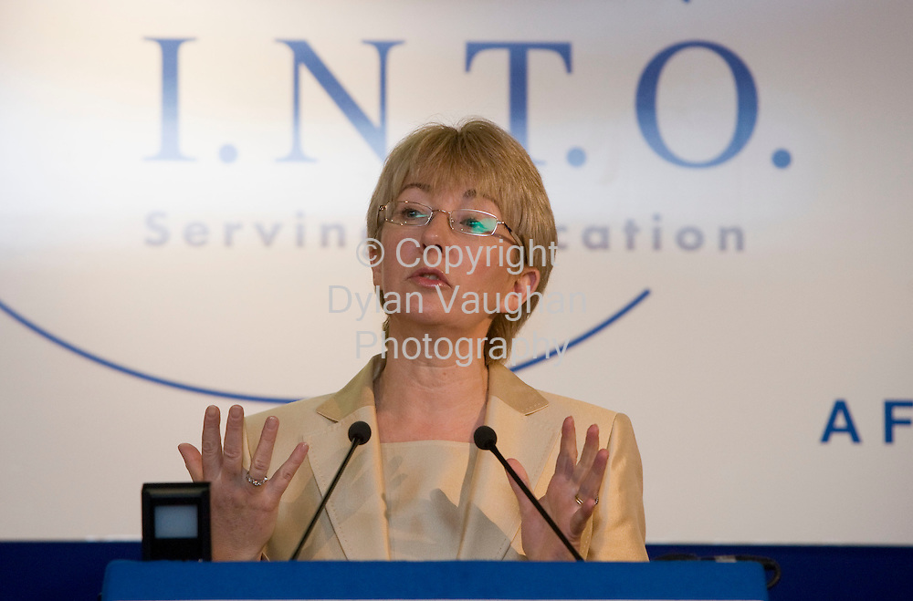 25/3/2008..Pictured at the INTO conference in Kilkenny yesterday was Mary Hanafin TD Minster for Health and Science..Picture Dylan Vaughan.