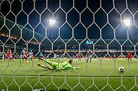 ALMELO - 14-04-2017, Heracles  Almelo - AZ, AFAS Stadion, 1-2, doelpunt AZ speler Alireza Jahanbakhsh