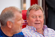 AFC Wimbledon manager Wally Downes before the EFL Sky Bet League 1 match between Sunderland and AFC Wimbledon at the Stadium Of Light, Sunderland, England on 24 August 2019.