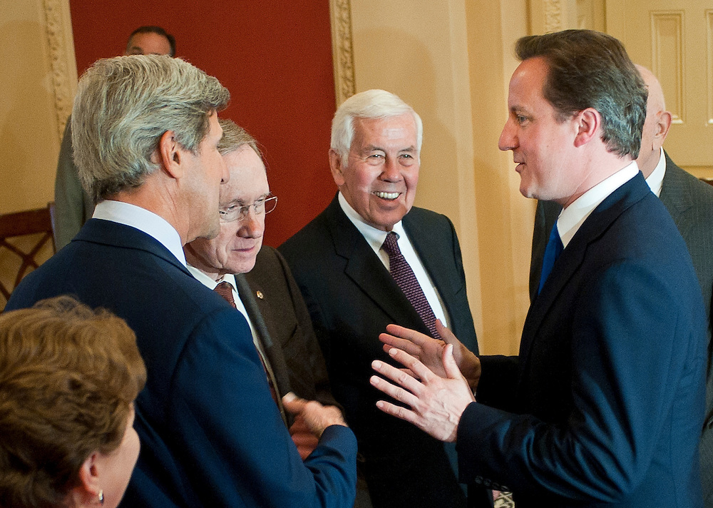 Jul 20, 2010 - Washington, District of Columbia, U.S., - British Prime Minister DAVID CAMERON meets with Senate leaders from both parties on Capitol Hill on Tuesday..(Credit Image: © Pete Marovich/ZUMA Press)