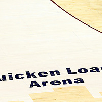 10 June 2016: Close view of the Quicken Loans Arena court during the Golden State Warriors 108-97 victory over the Cleveland Cavaliers, during Game Four of the 2016 NBA Finals at the Quicken Loans Arena, Cleveland, Ohio, USA.