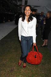 Actress ROSARIO DAWSON at a party to celebrate Le Touessrok a luxury resort in Mauritius, held at The Hempel, 31-35 Craven Hill Gardens, London W2 on 12th June 2007.<br />