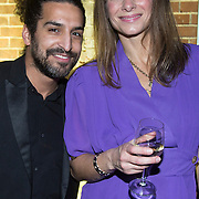 NLD/Amsterdam/20140124 - inloop E-entertainment Red Carpet party, Barbara Karel en partner Amir Charles