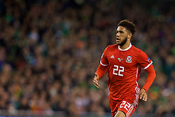 DUBLIN, IRELAND - Tuesday, October 16, 2018: Wales' Tyler Roberts during the UEFA Nations League Group Stage League B Group 4 match between Republic of Ireland and Wales at the Aviva Stadium. (Pic by David Rawcliffe/Propaganda)