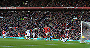 Dimitar Berbatov celebrates the first of his five goals during the Barclays Premier League match between Manchester United and Blackburn Rovers at Old Trafford on November 27, 2010 in Manchester, England.