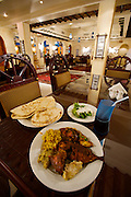 Dinner buffet at a traditional Qatari restaurant at the Corniche.