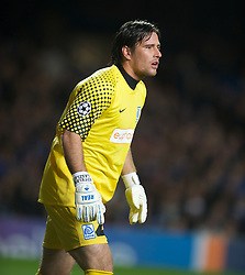 LONDON, ENGLAND - Wednesday, October 19, 2011: Racing Genk's Laszlo Koteles in action during the UEFA Champions League Group E match at Stamford Bridge. (Photo by Chris Brunskill/Propaganda)