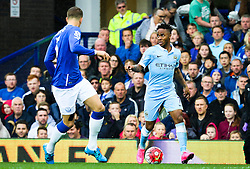 Raheem Sterling of Manchester City attacks - Mandatory byline: Matt McNulty/JMP - 07966386802 - 23/08/2015 - FOOTBALL - Goodison Park -Everton,England - Everton v Manchester City - Barclays Premier League