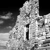 The Ruin of Newark Castle on the Fife Coast Path near St Monans East Neuk of Fife Scotland