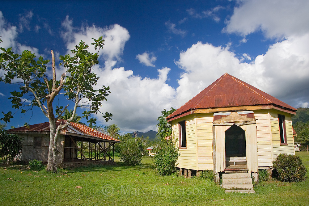 An Old Village Church in Vanua Levu, Fiji..