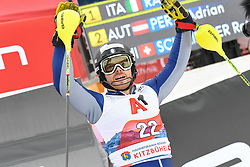 26.01.2020, Streif, Kitzbühel, AUT, FIS Weltcup Ski Alpin, Slalom, Herren, im Bild Giuliano Razzoli of Italy // Giuliano Razzoli of Italy during the men's Slalom of FIS Ski Alpine World Cup at the Streif in Kitzbühel, Austria on 2020/01/26. EXPA Pictures © 2020, PhotoCredit: EXPA/ Erich Spiess