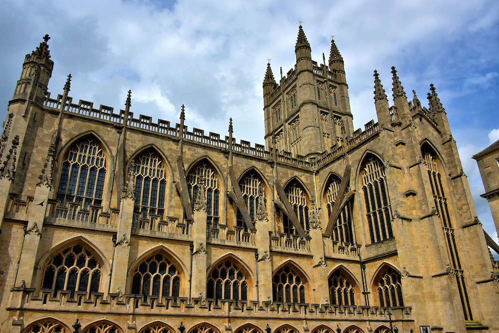 Perpendicular Design of Bath Abbey in Bath, England<br />