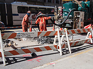 Con Edison workmen repairing a gas line in New York City