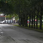 NLD/Amsterdam/20100826 - Uitvaart RTL journalist Conny Mus in Amsterdam, aankomst rouwstoet