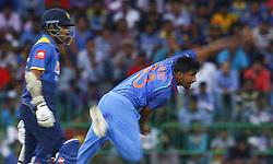 September 3, 2017 - Colombo, Sri Lanka - Indian cricketer Jasprit Bumrah delivers a ball during the 5th and final One Day International cricket match between Sri Lanka and India at the R Premadasa international cricket stadium at Colombo, Sri Lanka on Sunday 3 September 2017. (Credit Image: © Tharaka Basnayaka/NurPhoto via ZUMA Press)